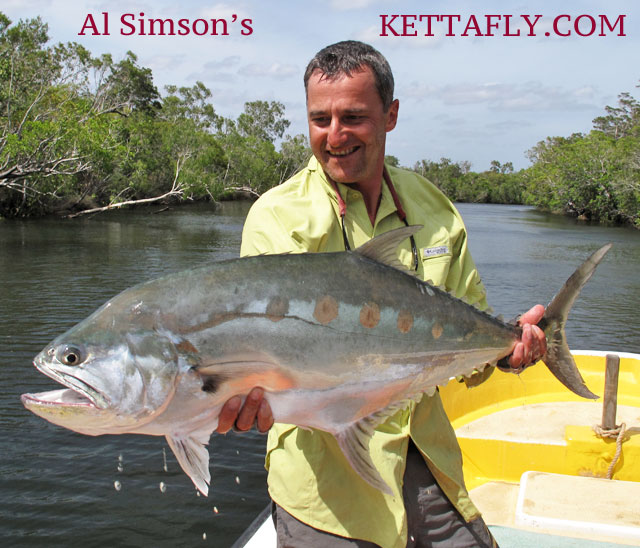 Al Simson With Queenfish Cape York